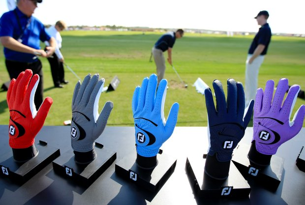 FootJoy gloves on display at the PGA Show Demo Day at Orange County National.