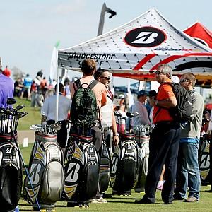 Bridgestone on the range at the PGA Show Demo Day at Orange County National.