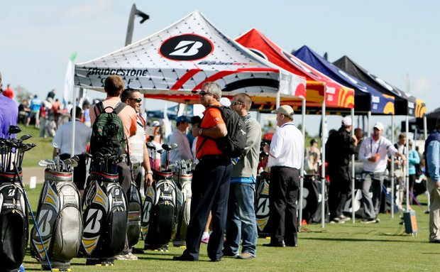Bridgestone on the range at the PGA Show Demo Day at Orange County National.