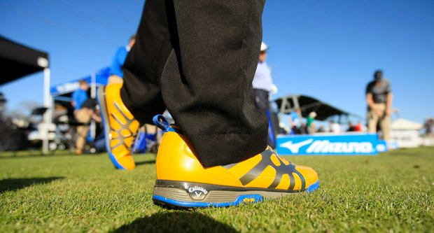 Callaway's X-Cage Vibe shoe at the PGA Show Demo Day at Orange County National.