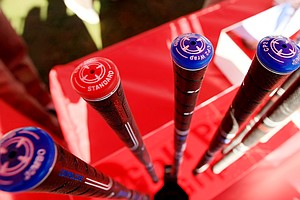 Golf Pride CP2 wrap grips at the PGA Show Demo Day at Orange County National.