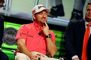 Graeme McDowell on the PGA Forum Stage at the 2014 PGA Merchandise Show at the Orange County Convention Center.