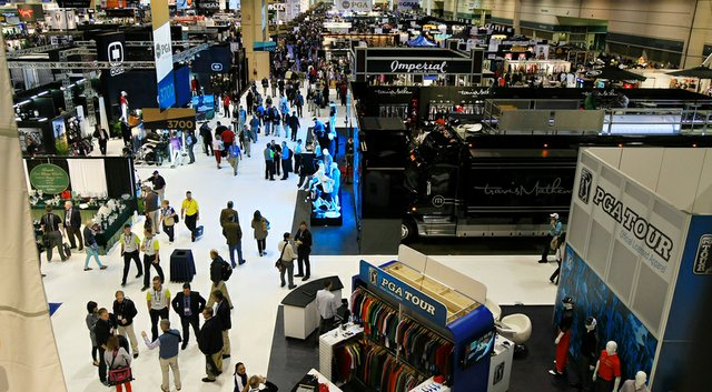 The floor of the 2014 PGA Merchandise Show in Orlando, Fla., on its first day at Orange County Convention Center.