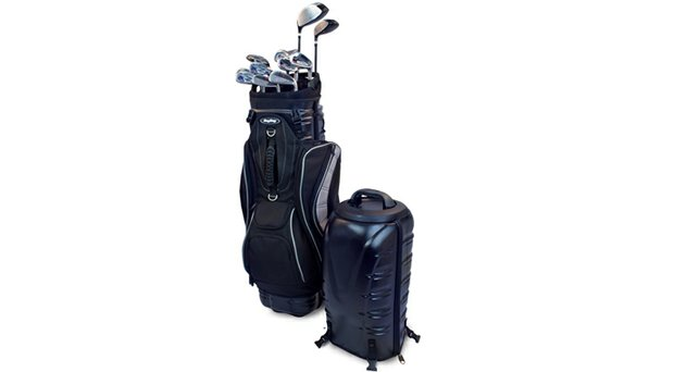 Bag Boy Hybrid PivotGrip golf bag.