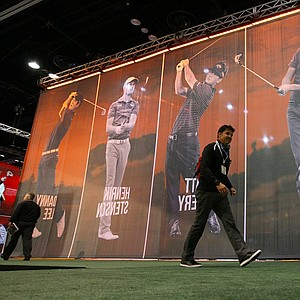 The outside of the Callaway booth at the 2014 PGA Merchandise Show at the Orange County Convention Center.