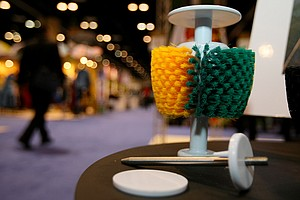 The Brush Caddy at Exsite Golf at the 2014 PGA Merchandise Show at the Orange County Convention Center.