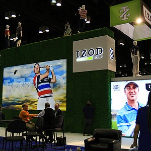 Izod Golf booth at the 2014 PGA Merchandise Show at the Orange County Convention Center.
