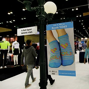 K-Bell Sport advertising at the 2014 PGA Merchandise Show at the Orange County Convention Center.