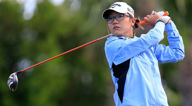 Lydia Ko follows her tee shot on the fourth hole during round one of the Pure Silk Bahamas LPGA Classic.