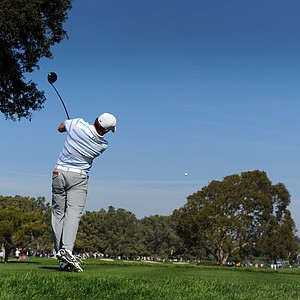 Jordan Spieth during the first round of the Farmers Insurance Open.