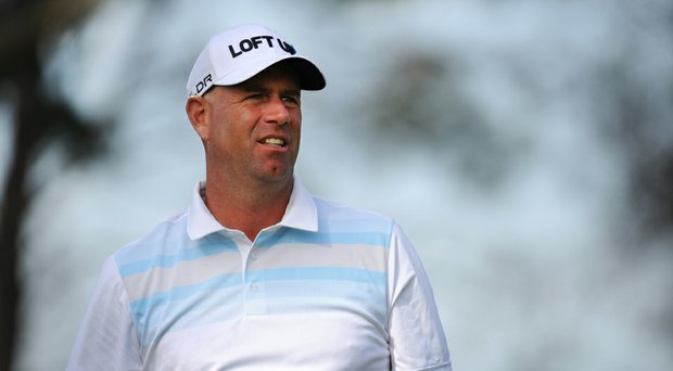 Stewart Cink during the first round of the Farmers Insurance Open. Cink shot 8-under 64 on Torrey Pines' North course.