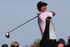 Tiger Woods during the first round of the Farmers Insurance Open at Torrey Pines' South course in La Jolla, Calif.