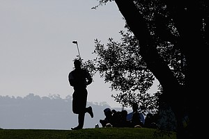 Tiger Woods during the first round of the Farmers Insurance Open.