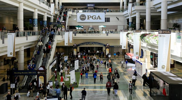 The entrance to the 2014 PGA Merchandise Show floor at Orange County Convention Center in Orlando, Fla.