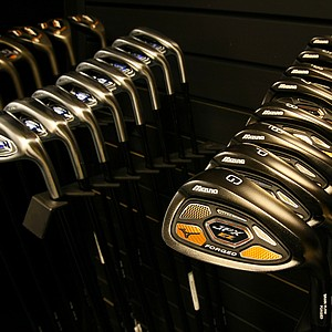 Mizuno JPX-EZ Forged Irons at the 2014 PGA Merchandise Show at the Orange County Convention Center.