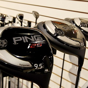 Ping displays its low-spinning i25 driver at the 2014 PGA Merchandise Show at the Orange County Convention Center.
