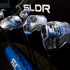 TaylorMade SLDR drivers at the 2014 PGA Merchandise Show at the Orange County Convention Center.