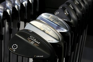 Titleist Vokey Design Spin Milled 5 (SM5) wedges at the 2014 PGA Merchandise Show at the Orange County Convention Center.