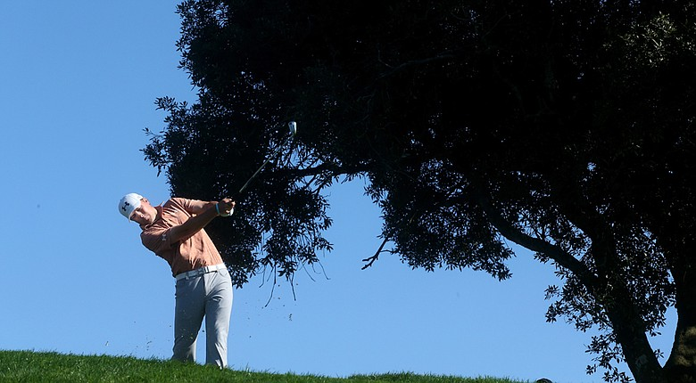 Jordan Spieth during the third round of the Farmers Insurance Open at Torrey Pines.