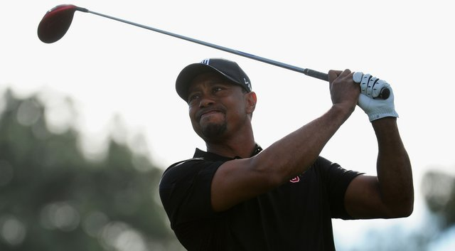 Tiger Woods during the third round of the Farmers Insurance Open at Torrey Pines.