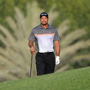 Tiger Woods had four birdies on his opening nine holes to make an early run up the leaderboard at the Omega Dubai Desert Classic.