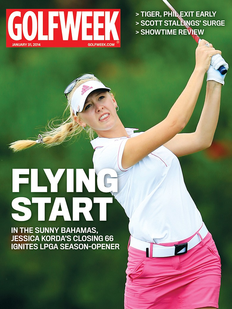 Jessica Korda on the cover of the Jan. 31, 2014, issue of Golfweek Magazine after winning the Pure Silk Bahamas LPGA Classic.