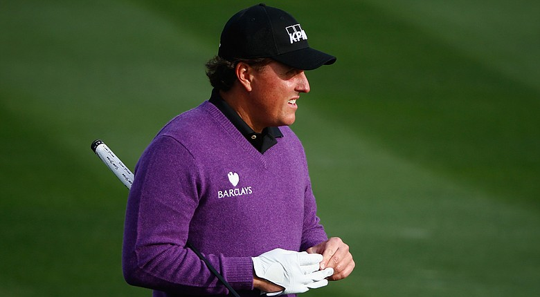 Phil Mickelson during the first round of the PGA Tour's 2014 Phoenix Open.