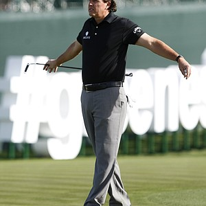 Phil Mickelson during the first round of the PGA Tour's 2014 Phoenix Open at TPC Scottsdale.