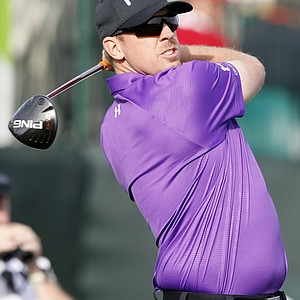 Hunter Mahan during the first round of the PGA Tour's 2014 Phoenix Open at TPC Scottsdale.