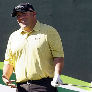 Kevin Stadler during the first round of the PGA Tour's 2014 Phoenix Open at TPC Scottsdale.