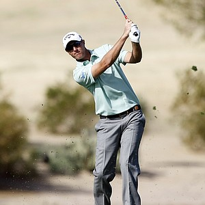 Nicolas Colsaerts during the first round of the PGA Tour's 2014 Phoenix Open at TPC Scottsdale.