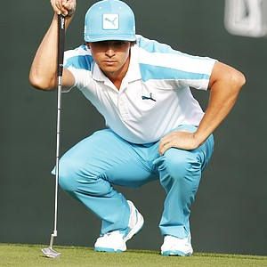 Rickie Fowler during the first round of the PGA Tour's 2014 Phoenix Open at TPC Scottsdale.