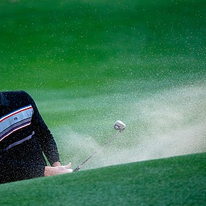 Chris Kirk plays a shot on the fourth hole during the second round of the Waste Management Phoenix Open.