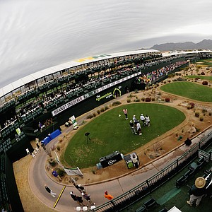 A general view of the 16th hole at TPC Scottsdale.