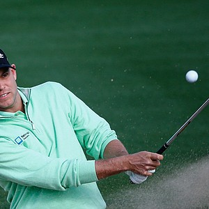 Bill Haas plays a shot on the second hole during the third round of the Waste Management Phoenix Open.