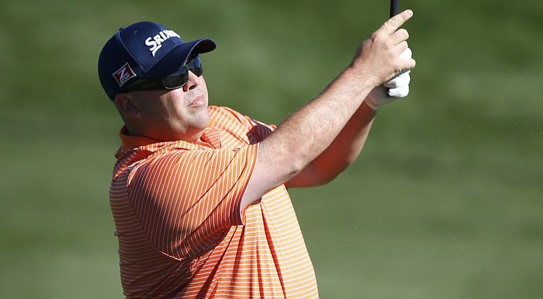 Kevin Stadler during the final round of the PGA Tour's 2014 Phoenix Open at TPC Scottsdale.