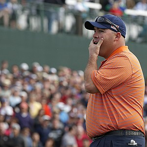 Kevin Stadler after winning the PGA Tour's 2014 Phoenix Open at TPC Scottsdale when Bubba Watson missed a putt for par on the 18th green.