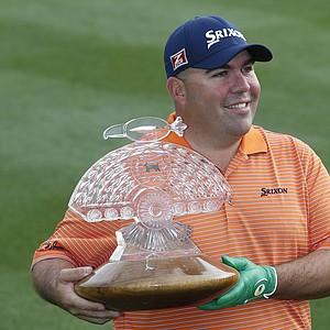 Kevin Stadler after winning the PGA Tour's 2014 Phoenix Open at TPC Scottsdale.