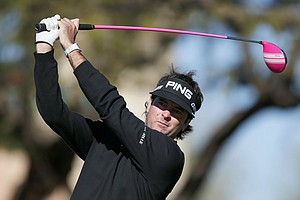 Bubba Watson during the final round of the PGA Tour's 2014 Phoenix Open at TPC Scottsdale.