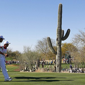 Hideki Matsuyama during the final round of the PGA Tour's 2014 Phoenix Open at TPC Scottsdale.