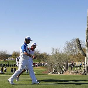 Hideki Matsuyama during the final round of the PGA Tour's 2014 Phoenix Open at TPC Scottsdale.