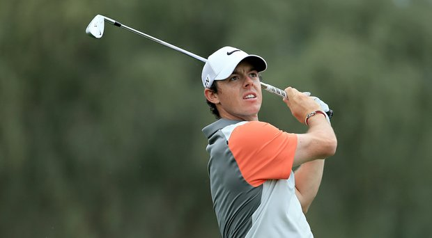 Rory McIlroy during the final round of the Omega Dubai Desert Classic.