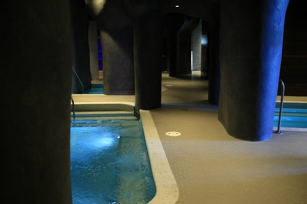 The grotto-style Spa, Acqua Pietra, located at the lodge at Streamsong.-