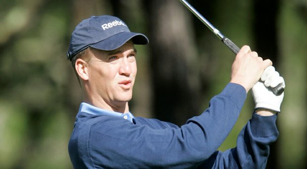 Peyton Manning, just off a Super Bowl loss, returns to the Pebble Beach Pro-Am and will pair with Scott Langley (Manning shown here in 2009).