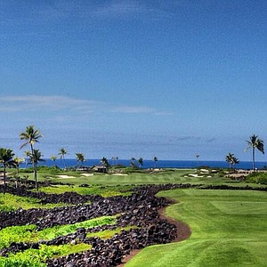 Golf Course at Koohanaiki, Hawaii.