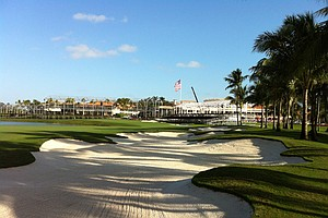 The new 18th hole at Doral.