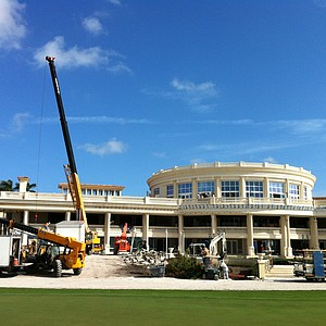 Work continues on the new clubhouse at Doral.