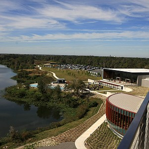 The view from the rooftop bar, Fragmentary Blue at the lodge at Streamsong.
