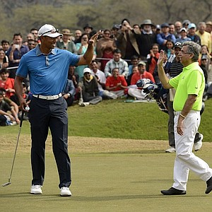 Tiger woods at a match play in India.