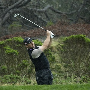 Graeme McDowell during the first round of the PGA Tour's 2014 AT&T Pebble Beach National Pro-Am.